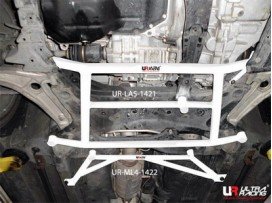 Mitsubishi EVO X UltraRacing 5-Point Front H-Brace 1421